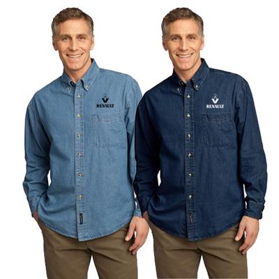 16644 - Port & Company®- Long Sleeve Value Denim Shirt
