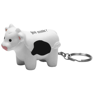 17933 - Milk Cow Key Chain Stress Reliever
