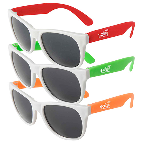 18721 - Neon Sunglasses - White Frame