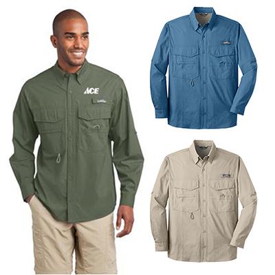 19636 - Eddie Bauer®- Long Sleeve Fishing Shirt