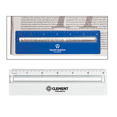 20835 - Plastic Ruler With Magnifier