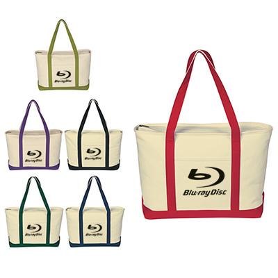 21861 - Large Heavy Cotton Canvas Boat Tote Bag