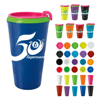 22183 - 18 oz. Multi-Color Infinity Tumbler