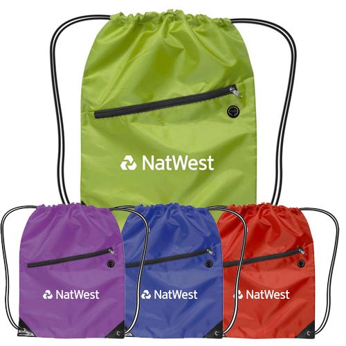 22500 - Nylon Drawstring Backpack With Zipper