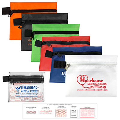 22566 - 8 Piece Hand Sanitizer First Aid Kit Pouch