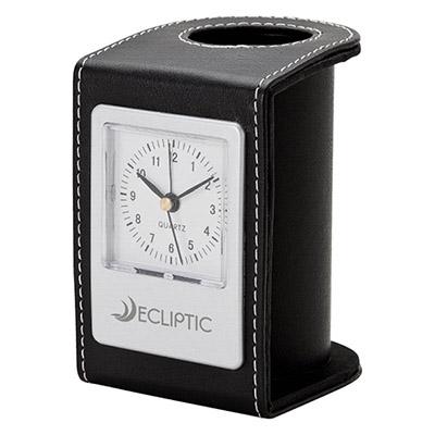 22689 - Alba Desk Clock & Pen Cup