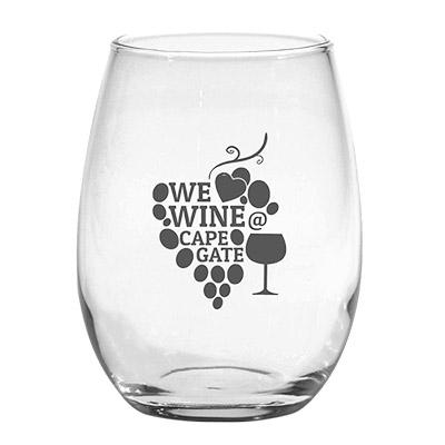 22734 - 15 oz. Stemless White Wine Glass