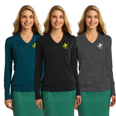 23397 - Port Authority® Ladies V-Neck Sweater