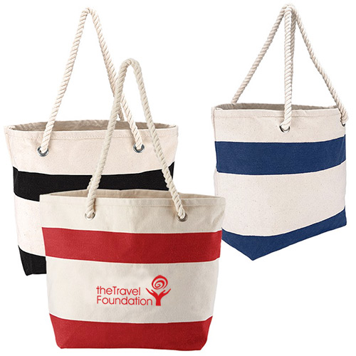 24070 - Cotton Resort Tote with Rope Handle