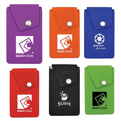 24283 - Silicone Snap Pocket Wallet