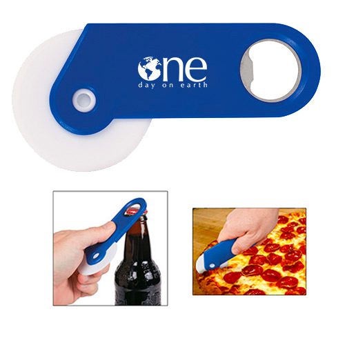 24644 - Pizza Cutter With Bottle Opener