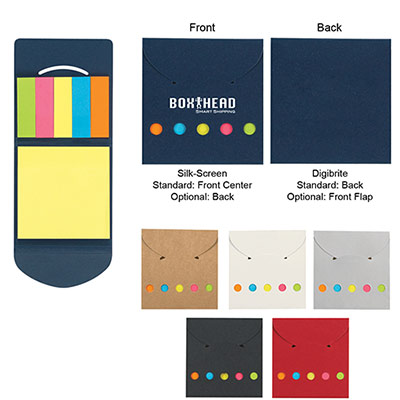 24822 - Sticky Notes And Flags In Pocket Case
