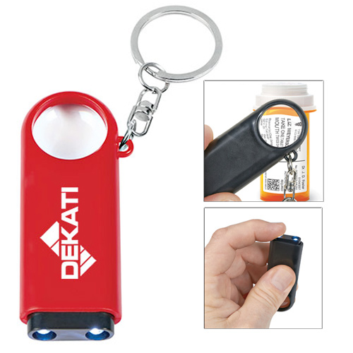 25007 - Magnifier And LED Light Key Chain