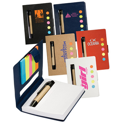 25309 - Eco Stowaway Sticky Jotter with Pen