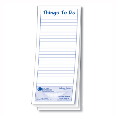 """3935 - Economy """"Things To Do"""" Pad"""