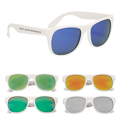 26512 - Rubberized Mirrored Sunglasses