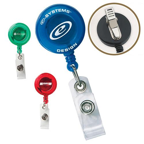 26741 - Round Secure-A-Badge™ w/ Alligator Clip
