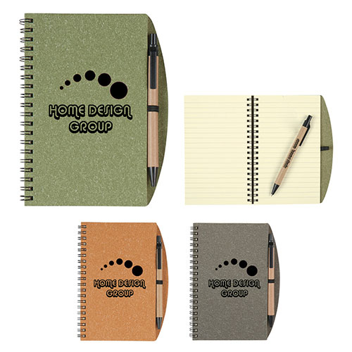 "26892 - 5"" x 7"" Eco-Inspired Spiral Notebook & Pen"