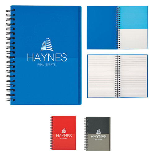 26913 - 5x7 Two-Tone Spiral Notebook