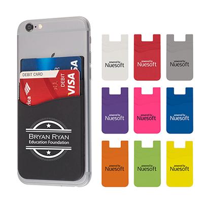 26932 - Dual Pocket Silicone Phone Wallet