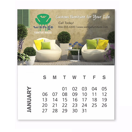 9920 - BIC® Business Card Magnet with Calendar