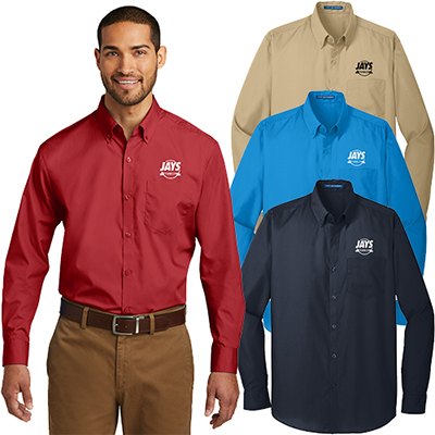 27370 - Port Authority® Long Sleeve Carefree Poplin Shirt