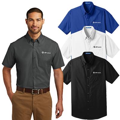27373 - Port Authority®Short Sleeve Carefree Poplin Shirt