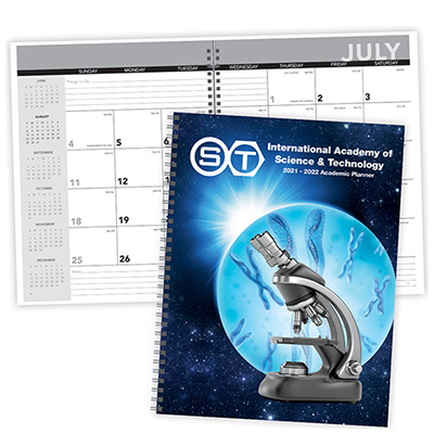 27514 - Academic Year Desk Planner with Custom Cover