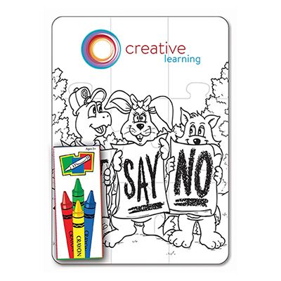 27652 - Just Say No 9 Piece Coloring Puzzle Set