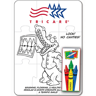 27659 - Dental 9 Piece Coloring Puzzle Set