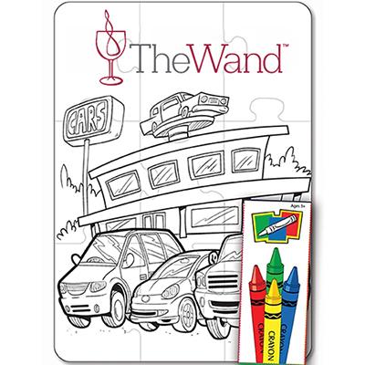 27673 - Car Dealers 9 Piece Coloring Puzzle Set