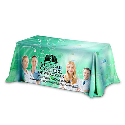27750 - 6 ft. 3-Sided Throw Style Table Cover