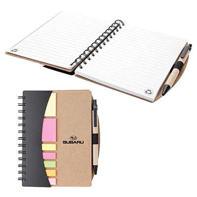 28102 - Broome Mini Journal with Pen, Flags & Sticky Notes