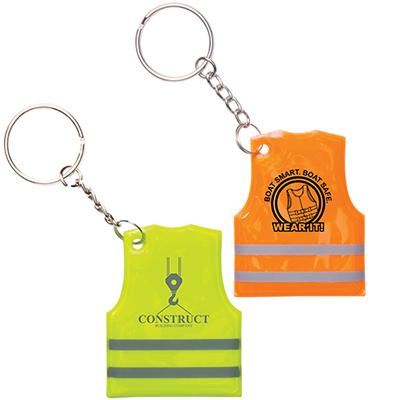 28556 - Reflective Safety Vest Keytag