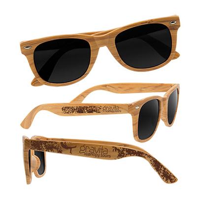 28594 - Wood Grain Design Sunglasses