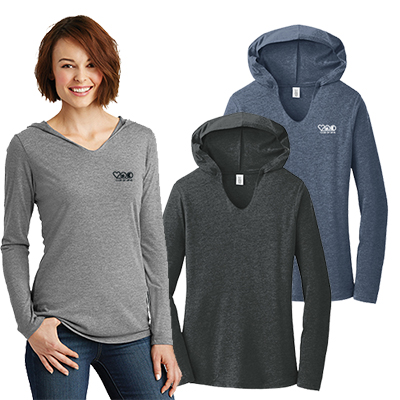 28908 - District®Women's Perfect Tri®Long Sleeve Hoodie