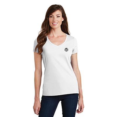 29001 - Port & Company®Ladies Fan Favorite™ V-Neck Tee (White)