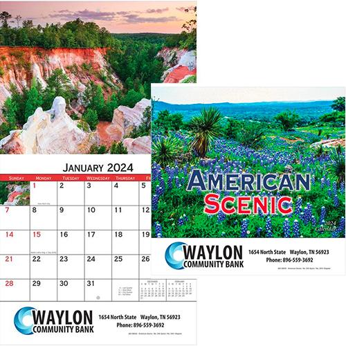 29128 - American Scenic Wall Calendar - Stapled
