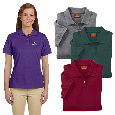 29667 - Harriton Ladies' 6 oz. Ringspun Cotton Pique Polo