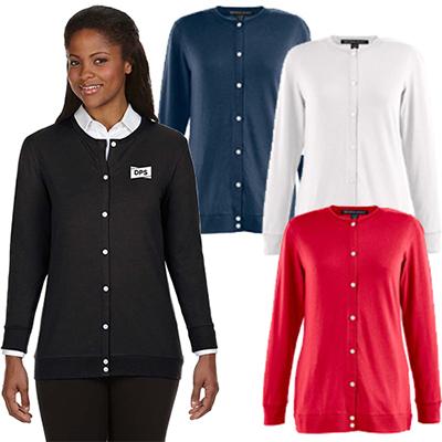 29664 - Devon & Jones Ladies' Perfect Fit™ Ribbon Cardigan
