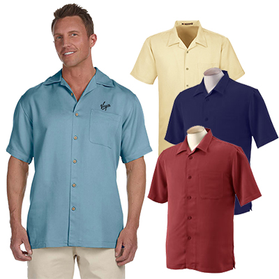 29693 - Harriton Men's Bahama Cord Camp Shirt
