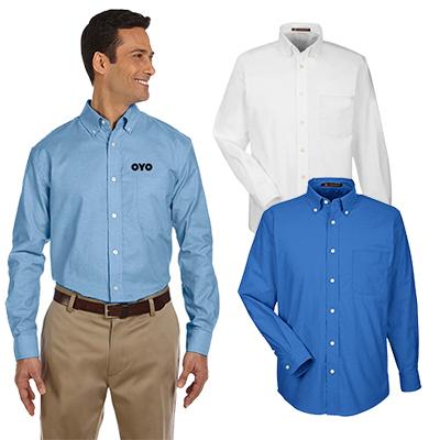 29695 - Harriton Men's Long-Sleeve Oxford Shirt