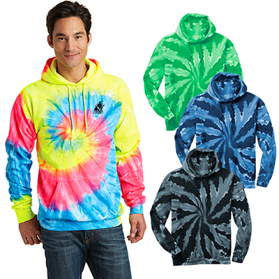30398 - Port & Company® Tie-Dye Pullover Hooded Sweatshirt
