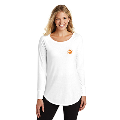 30497 - District Made® Ladies Perfect Tri ® Long Sleeve (White)