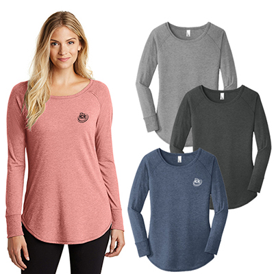 30498 - District Made® Ladies Perfect Tri ® Long Sleeve (Color)