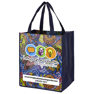 "30782 - 13"" x 15"" Glossy Lamination Grocery Shopping Tote Bags"
