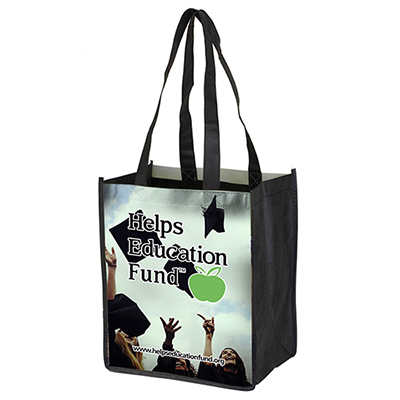 """30779 - 8"""" x 10"""" Glossy Lamination Grocery Shopping Tote Bags"""