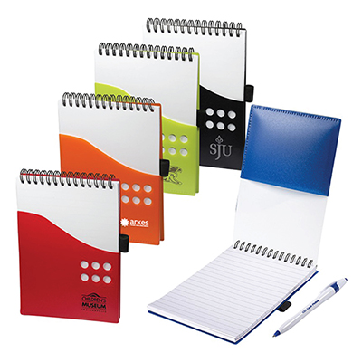 30948 - Two-Tone Jotter with Contour Pen