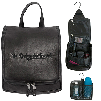 31039 - Bryercliff Leather Hanging Travel Kit