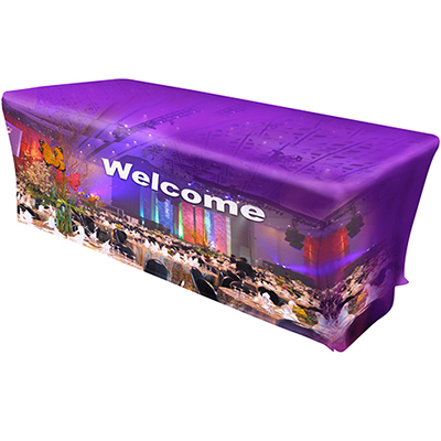 31035 - 8' Stretch Fit All Over Dye Sub Table Cover - 3-Sided